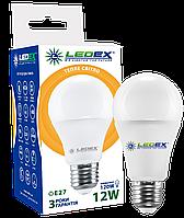 LED Светодиодная Лампа 12W Е27 LEDEX PREMIUM! 1140lm,3000k