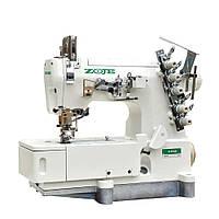 Трехигольная плоскошовная пятиниточная швейная машина цепного стежка ZOJE ZJ W562-1