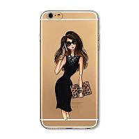 """Силиконовый чехол """"Леди"""" на iphone 6 6s для стильных девушек."""