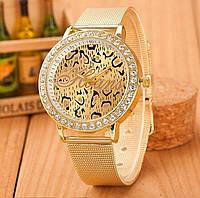Наручные часы Hoans с узором леопард. Качественные женские часы. Интересный дизайн. Новая модель. Код: КДН752