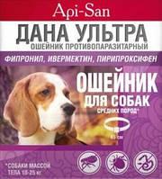 ДАНА УЛЬТРА ошейник противопар. для средних собак