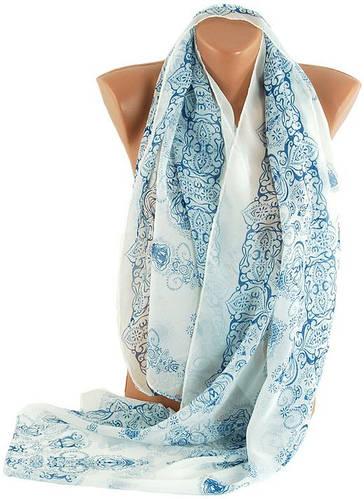 Красивый женский шарф-палантин 150х75 см. Traum 2494-40, белый