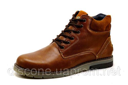 Ботинки зимние Hilfiger Denim, мужские, на меху, натуральная кожа, рыжие, р. 40 42