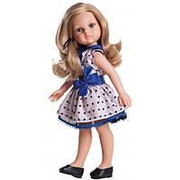 Кукла Paola Reina Карла в платье с синим бантом 32 см 04506