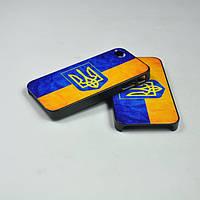 Пластиковый чехол флаг Украины Iphone 5 5s, Z67
