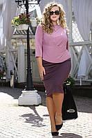 Женская классическая юбка больших размеров (рр 48-94), разные цвета