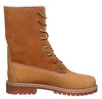 Зимние женские ботинки Timberland Teddy Fleece, Тимберленд с мехом желтые