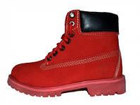 Женские ботинки Timberland, Тимберленд красные