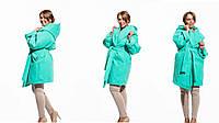 Пальто женское кашемировое с капюшоном