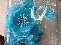 """Аксессуар """"Цветок голубой"""" handmade"""