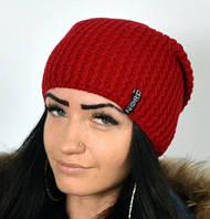 Красная вязаная  шапка, фото 1