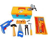Игрушечный детский набор инструментов в чемодане Маленький столяр Орион (938)