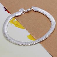 Серебряный браслет-змейка 925 пробы