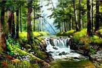 Комплект алмазной вышивки Природный водопад DIY 45 х 30 см (арт. FS277)