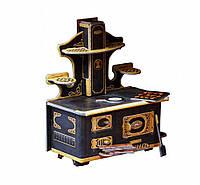 """Коллекционный набор мебели """"Кухонная плита"""". Объемный пазл. Материал: картон."""