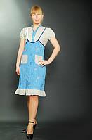 Платье , интернет магазин женской одежды, хлопок, по колено, ПЛ 001.