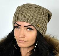 Зимняя шапка модной вязки, фото 1