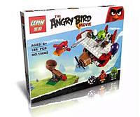 """Конструктор Angry Birds 19002 """"Самолетная атака"""", 185 дет. Lepin, (аналог LEGO 75822)"""