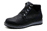 Ботинки мужские зимние Trike, на меху, натуральная кожа, черные, р. 40 41 42 44 45