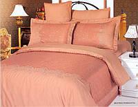 """Комплект постельного белья """"Le Vele"""" жаккард+вышивка 200*220  евро"""