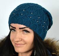 Теплая шапка красивой вязки, фото 1