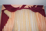 Комплект штор с ламбрекеном бандо №181 3м