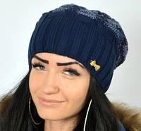 Женская стильная удлиненная шапка , фото 1