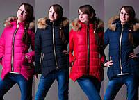 Детская зимняя куртка-парка (р.36-42)