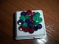 Набор природных камней: изумруд,рубин,сапфир 20 шт