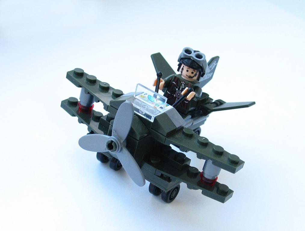"""Конструктор """"Военный самолет"""" BRICK 804"""