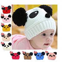 Детская шапочка панда с ушками