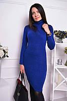 Женское стильное теплое платье-гольф из ангоры до колен (7 цветов)