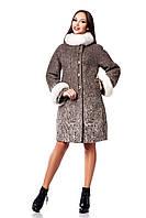 Женское зимнее пальто с натуральным мехом (р. 44-54) арт. 820 (н/м) Тон 1