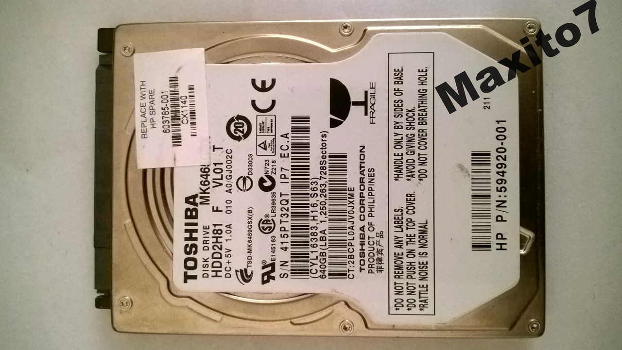 Жесткий диск 2,5 Toshiba  640Gb  Sata