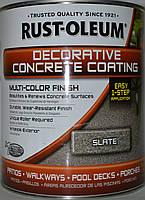 """Покрытие для бетоннх полов декоративное под эффект камня, цвет """"Серый камень""""Rust Oleum банка 3,78 л"""
