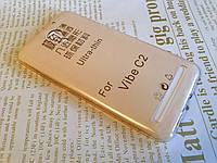 Ультратонкий 0,3 мм чехол для Lenovo C2 (K10a40) золотистый
