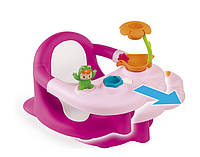 Стульчик для купания Жабка Cotoons Smoby 110606 розовый