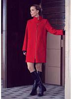 Свободное пальто на молнии с воротником-стойкой