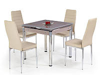 Раздвижной стеклянный кухонный стол Halmar Kent беж