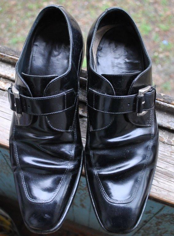 Мужские туфли Lottusse лак кожа 44 размер 28,5