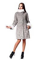 Женское зимнее пальто с натуральным мехом (р. 44-54) арт. 820 (н/м) Тон 3