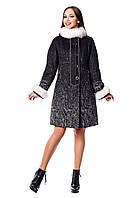 Женское зимнее пальто с натуральным мехом (р. 44-54) арт. 820 (н/м) Тон 4