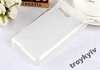 Чехол бампер накладка для Lenovo A316i Белый