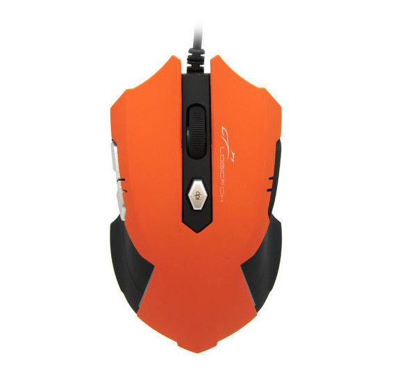 Мышь LogicFox Gaming Series LF-GM 049, оптическая, 2400 dpi, USB, Black-Orange