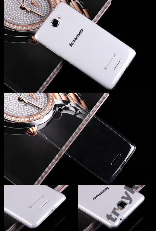 Чехол бампер накладка Lenovo S810T Белый 0,5 мм!