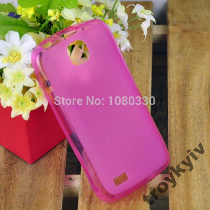 Чехол бампер накладка для Fly IQ431 Glory Розовый
