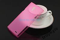 Чехол бампер накладка Philips Xenium S398 Розовый