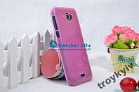 Чехол бампер накладка Fly IQ454 EVO Tech1 Розовый