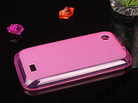Чехол бампер на Lenovo A369i НАЛИЧИЕ Розовый