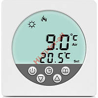 LCD дисплей Термостат теплый пол 3.6kW, воздух+пол программа на неделю кабельный ик маты